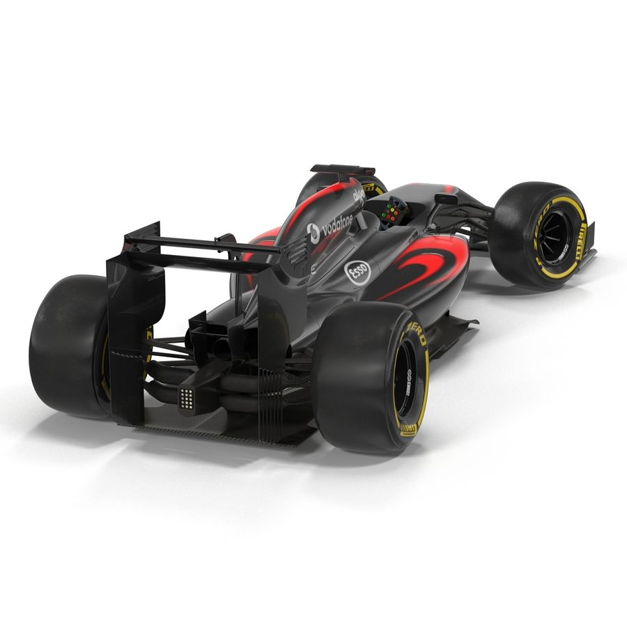 Voiture de Formule 1 royalty-free 3d model - Preview no. 15