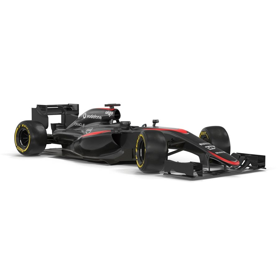 Formule 1 auto royalty-free 3d model - Preview no. 18