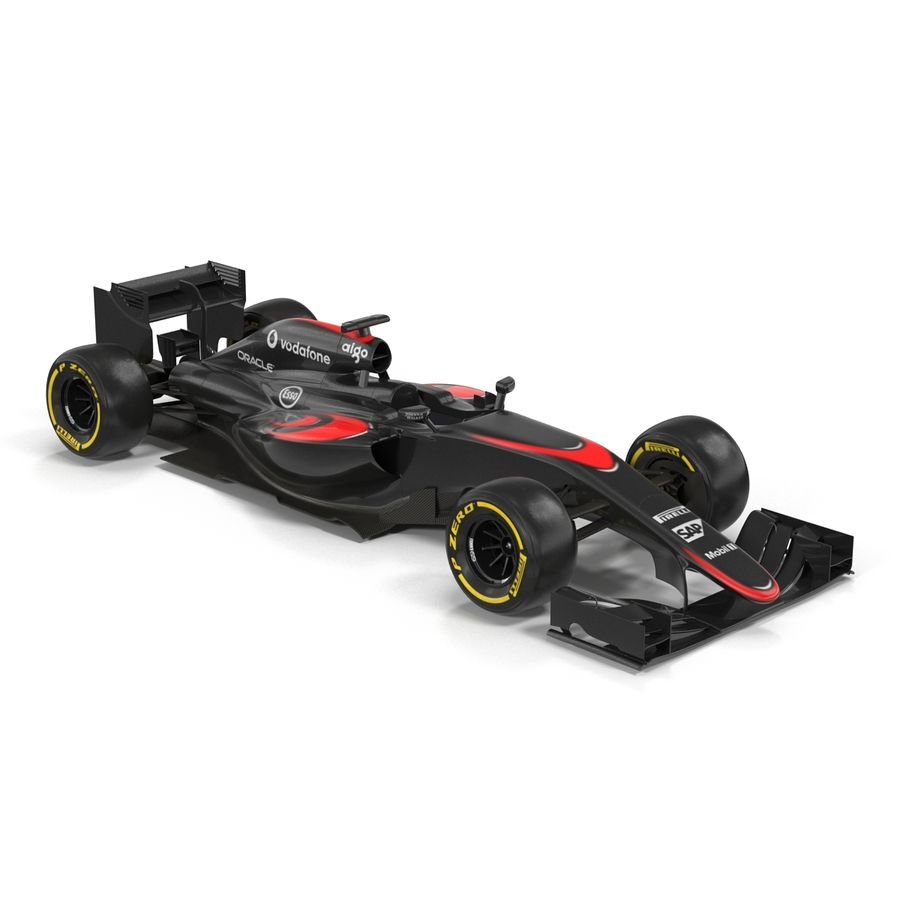 Formule 1 auto royalty-free 3d model - Preview no. 7