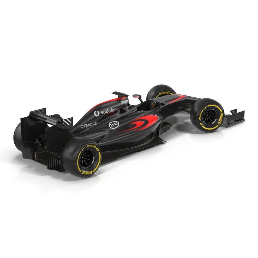 Formule 1 auto royalty-free 3d model - Preview no. 10