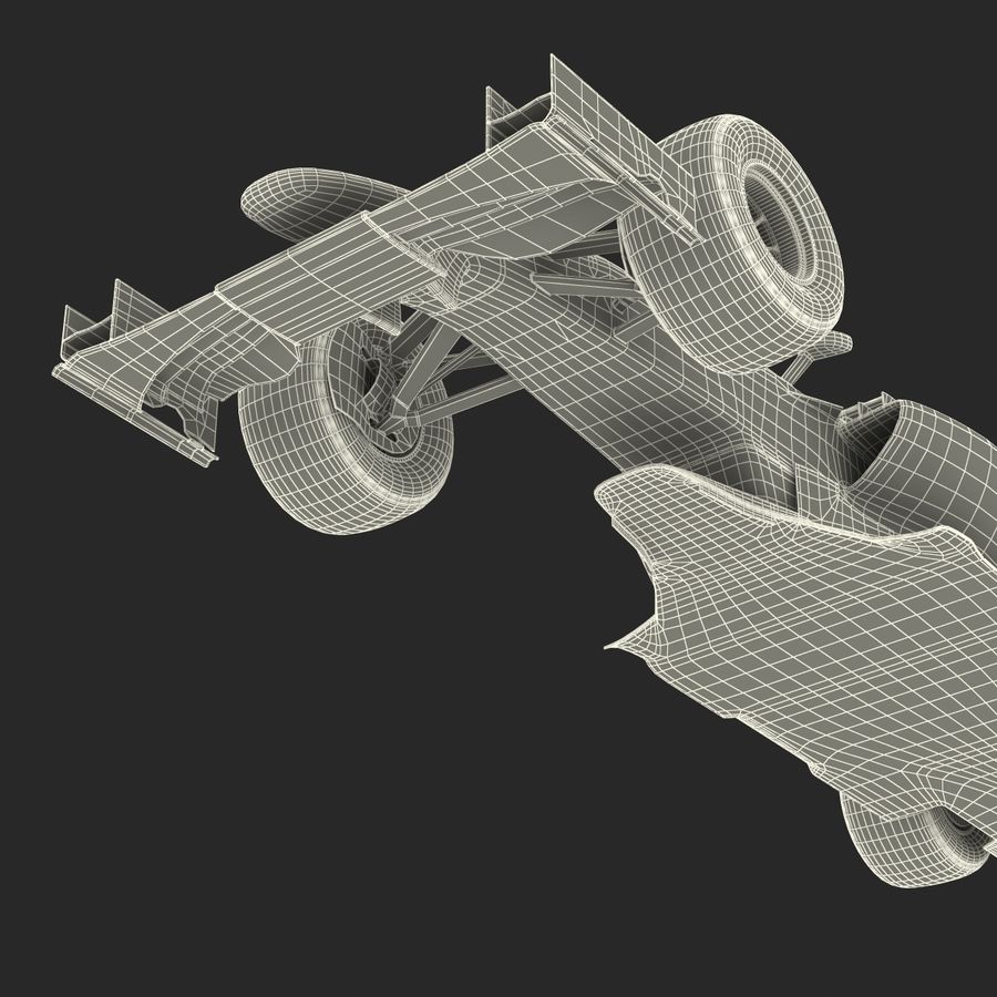 Voiture de Formule 1 royalty-free 3d model - Preview no. 80