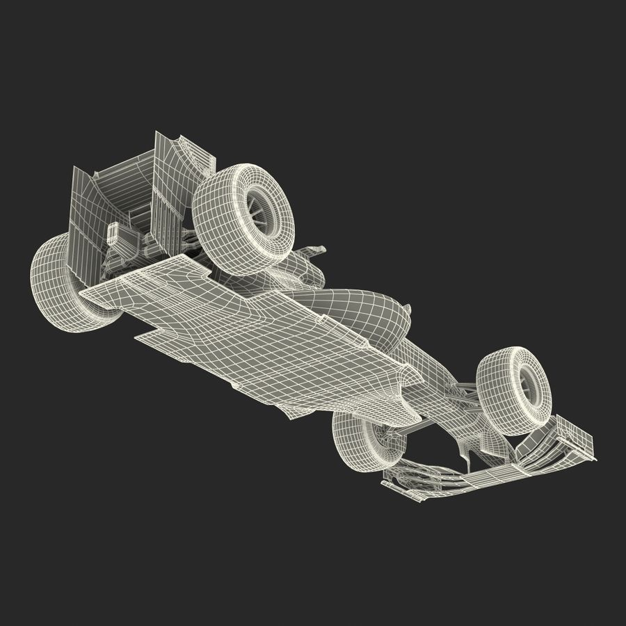 Formule 1 auto royalty-free 3d model - Preview no. 77