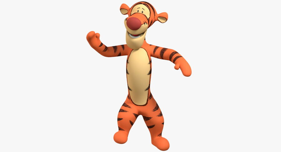 Rigged Animated Tigger From Winnie the Pooh royalty-free 3d model - Preview no. 2