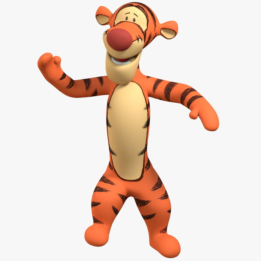 Rigged Animated Tigger From Winnie the Pooh royalty-free 3d model - Preview no. 1