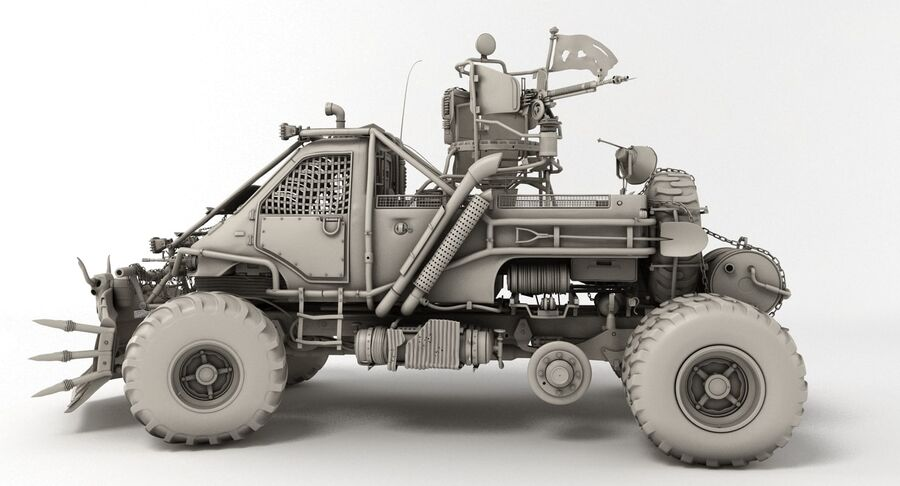 Apocalyptic Truck royalty-free 3d model - Preview no. 6