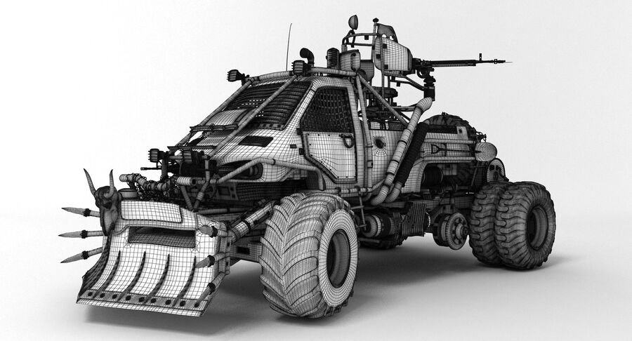Apocalyptic Truck royalty-free 3d model - Preview no. 5