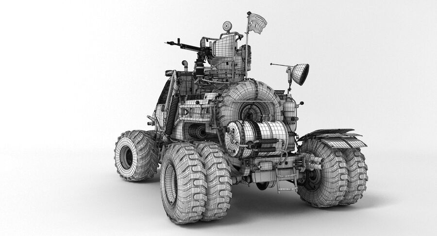 Apocalyptic Truck royalty-free 3d model - Preview no. 9