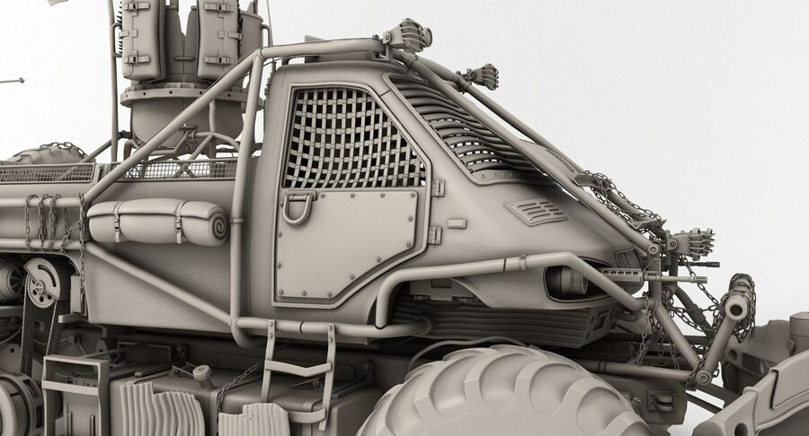 Apocalyptic Truck royalty-free 3d model - Preview no. 23