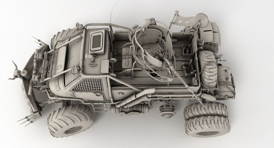 Apocalyptic Truck royalty-free 3d model - Preview no. 24
