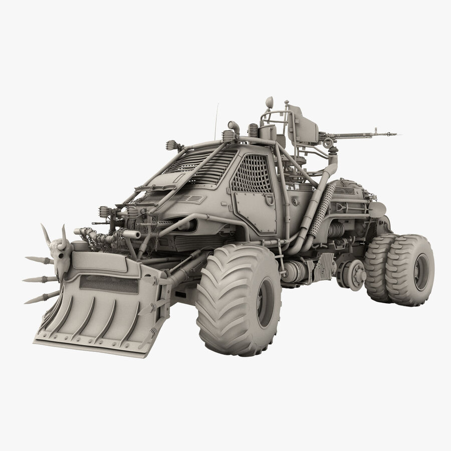 Apocalyptic Truck royalty-free 3d model - Preview no. 1