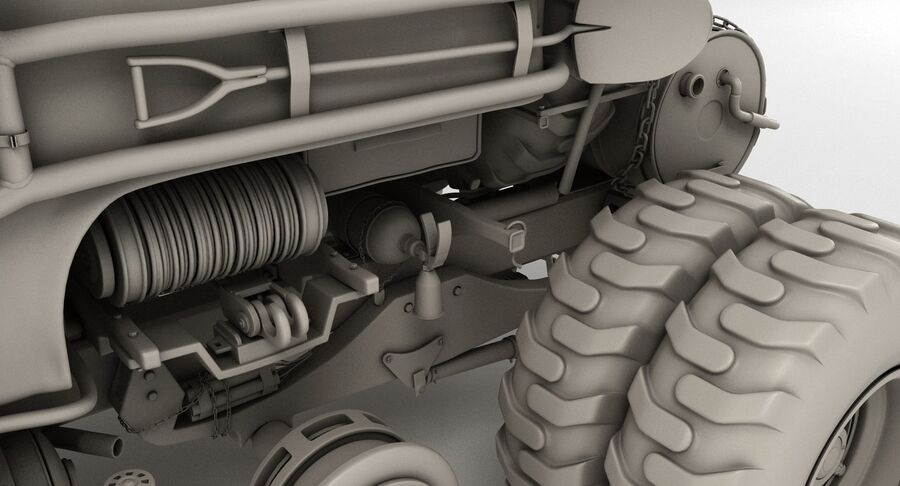 Apocalyptic Truck royalty-free 3d model - Preview no. 18
