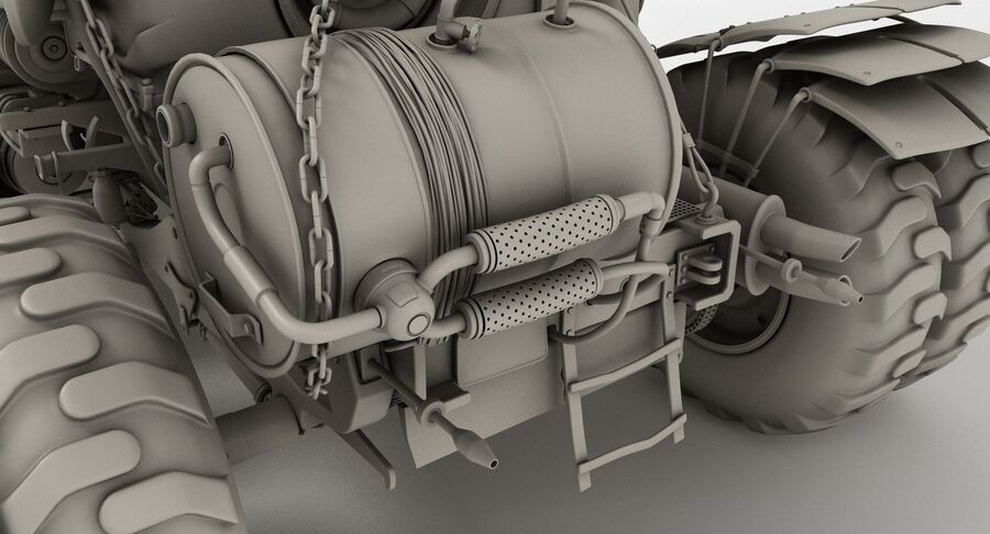 Apocalyptic Truck royalty-free 3d model - Preview no. 19