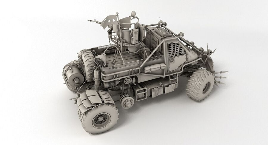 Apocalyptic Truck royalty-free 3d model - Preview no. 13