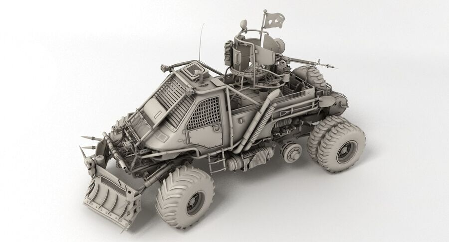 Apocalyptic Truck royalty-free 3d model - Preview no. 11