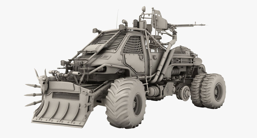 Apocalyptic Truck royalty-free 3d model - Preview no. 2