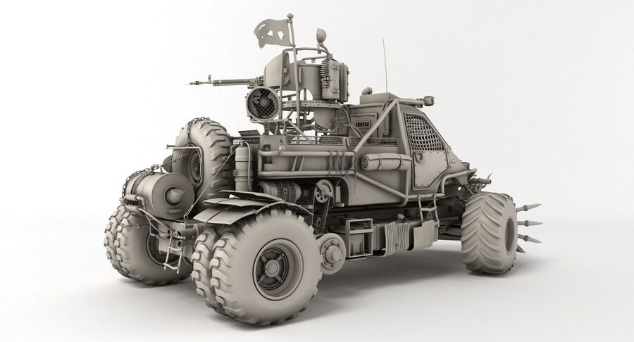 Apocalyptic Truck royalty-free 3d model - Preview no. 10
