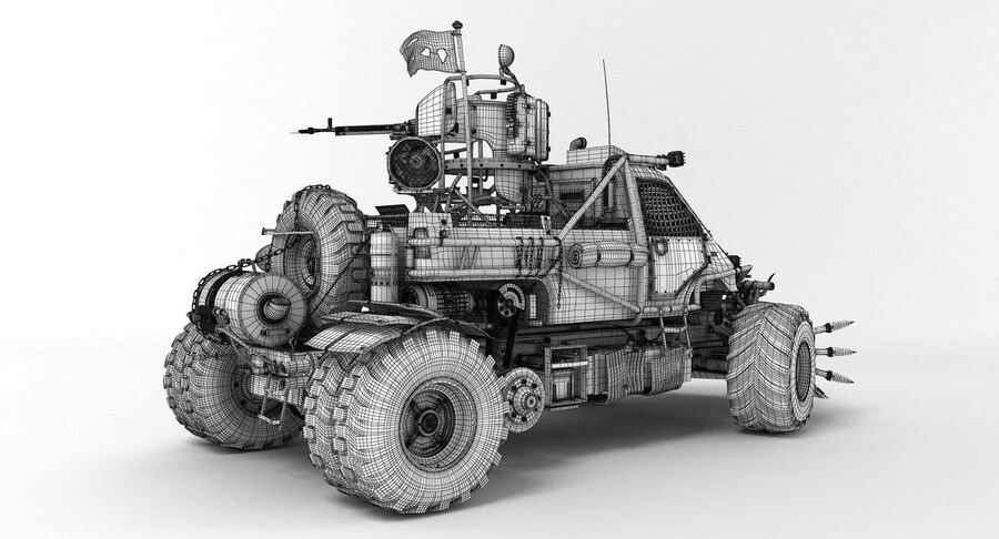 Apocalyptic Truck royalty-free 3d model - Preview no. 12