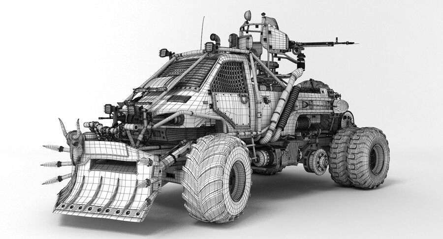 Apocalyptic Truck royalty-free 3d model - Preview no. 4