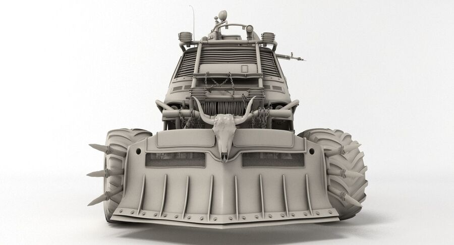 Apocalyptic Truck royalty-free 3d model - Preview no. 14