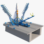 Wyrzutnia Sojuz-2 na wyrzutni 3d model