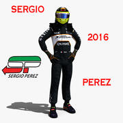 Sergio Perez 2016 3d model