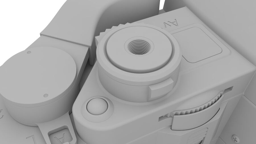 Fotocamera DSLR Canon A1 avanzata royalty-free 3d model - Preview no. 24