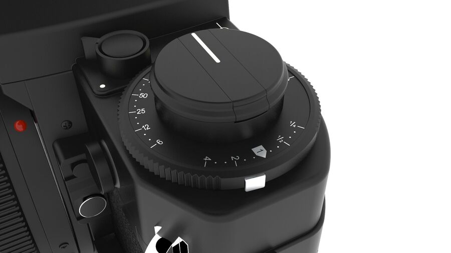 Fotocamera DSLR Canon A1 avanzata royalty-free 3d model - Preview no. 10