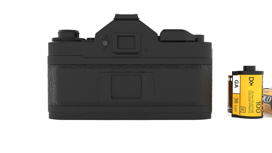 Fotocamera DSLR Canon A1 avanzata royalty-free 3d model - Preview no. 5