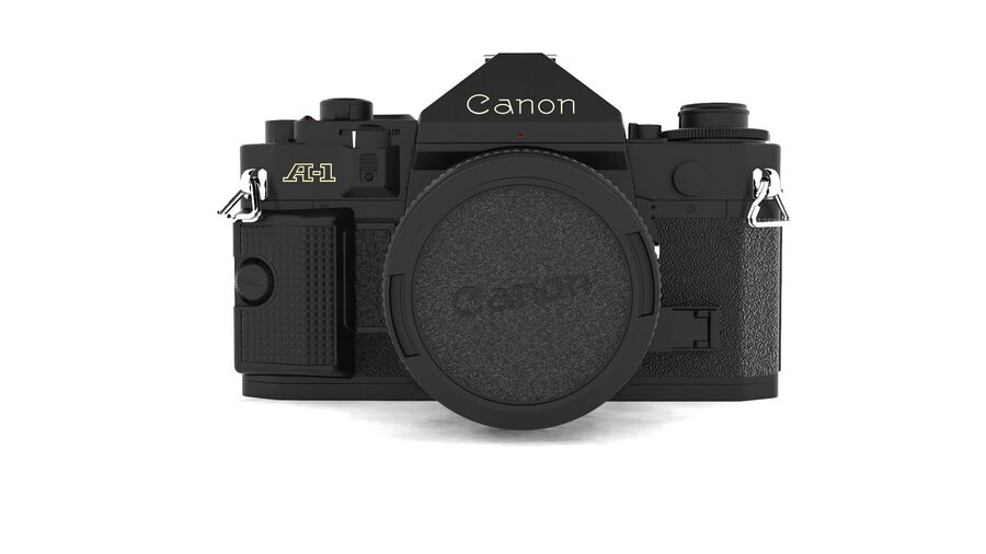 Fotocamera DSLR Canon A1 avanzata royalty-free 3d model - Preview no. 8