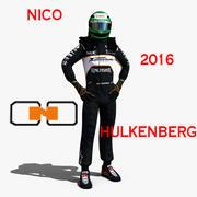 Nico Hulkenberg 2016年 3d model