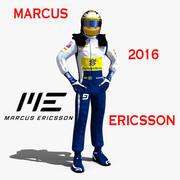 Marcus Ericsson 2016 3d model