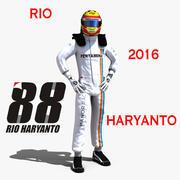 2016年ハリオントリオ 3d model