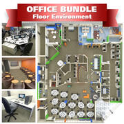 Środowisko biurowe 3d model
