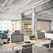 Innenraum des Industriebüros 3d model