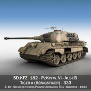 Panzerkampfwagen VI-Ausf.B-Tiger II-333 3d model