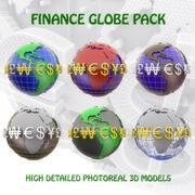 Finance Globe Pack 3d model