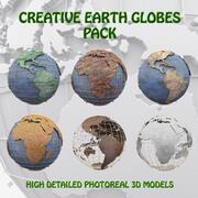 Yaratıcı Küreler Paketi 3d model