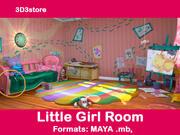 Little Girl Room 3d model