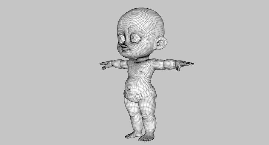 Dessin animé, garçon, bébé, tom royalty-free 3d model - Preview no. 23