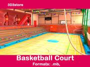 Basketball Platz 3d model