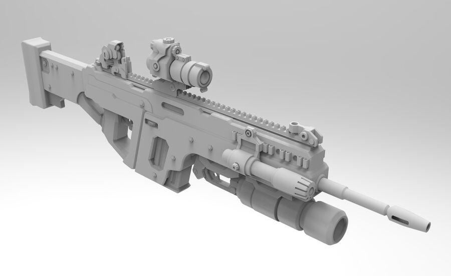 돌격 소총 royalty-free 3d model - Preview no. 9