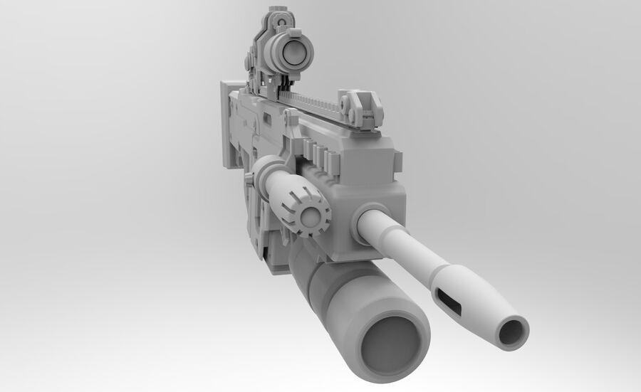 돌격 소총 royalty-free 3d model - Preview no. 8