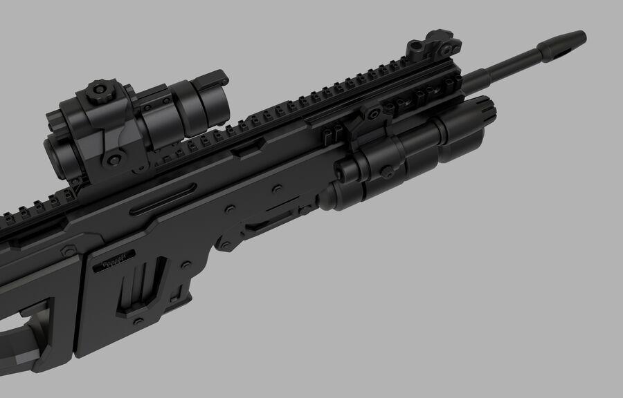 돌격 소총 royalty-free 3d model - Preview no. 5