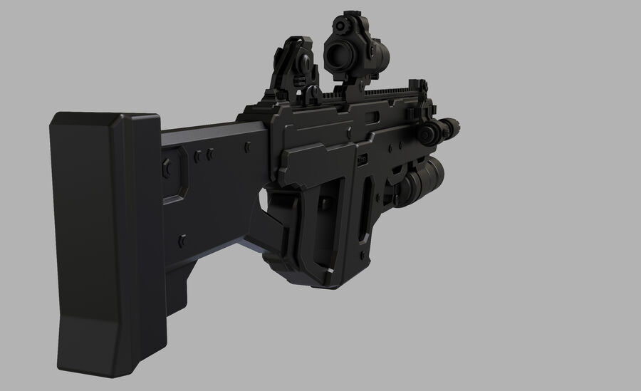 돌격 소총 royalty-free 3d model - Preview no. 3