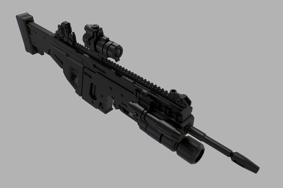 돌격 소총 royalty-free 3d model - Preview no. 14