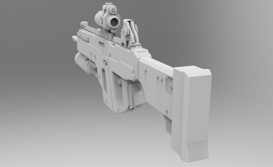 돌격 소총 royalty-free 3d model - Preview no. 6