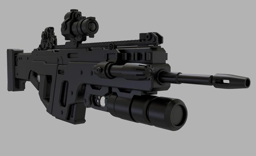 돌격 소총 royalty-free 3d model - Preview no. 10