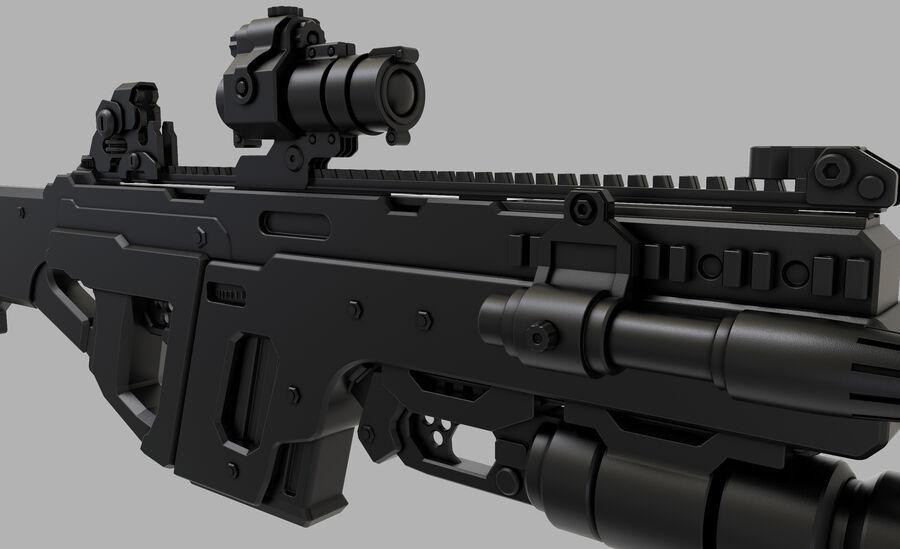 돌격 소총 royalty-free 3d model - Preview no. 7