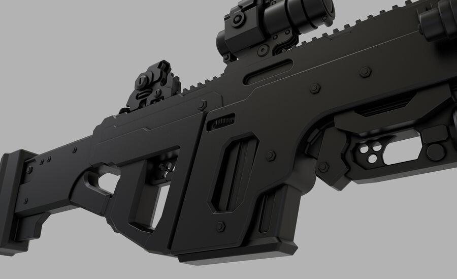 돌격 소총 royalty-free 3d model - Preview no. 4