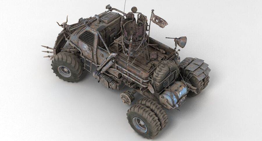 Apocalyptic Truck 2 royalty-free 3d model - Preview no. 14